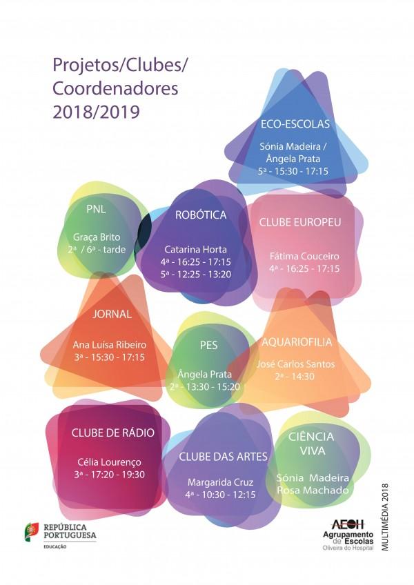AEOH - Clubes no ano letivo de 2018-2019