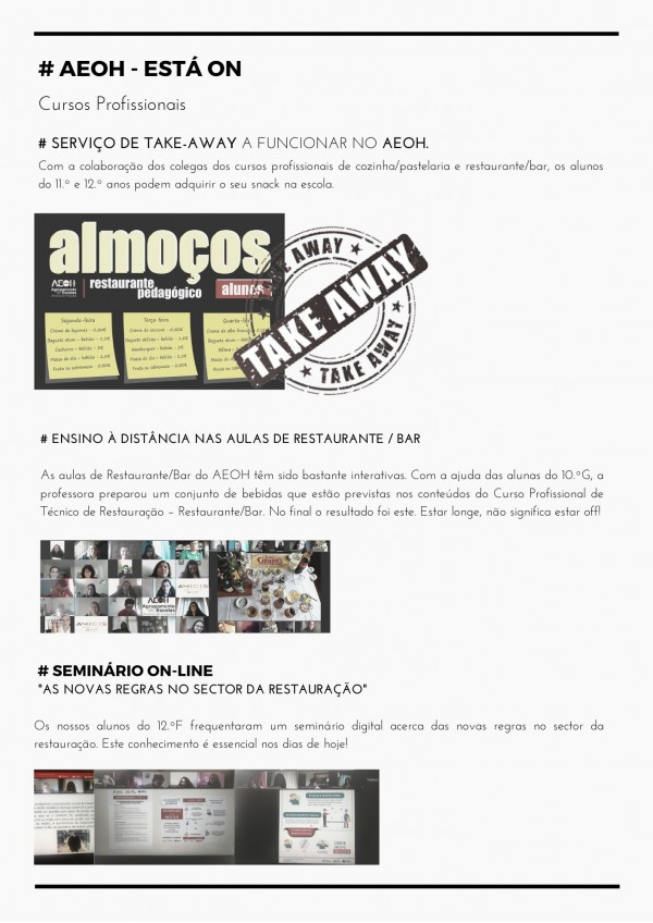 2º Edição da Newsletter AEOH ESTÁ ON